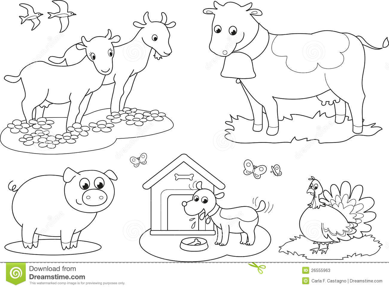 Farm Animals coloring #14, Download drawings