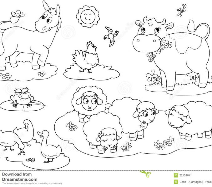 Farm Animals coloring #3, Download drawings