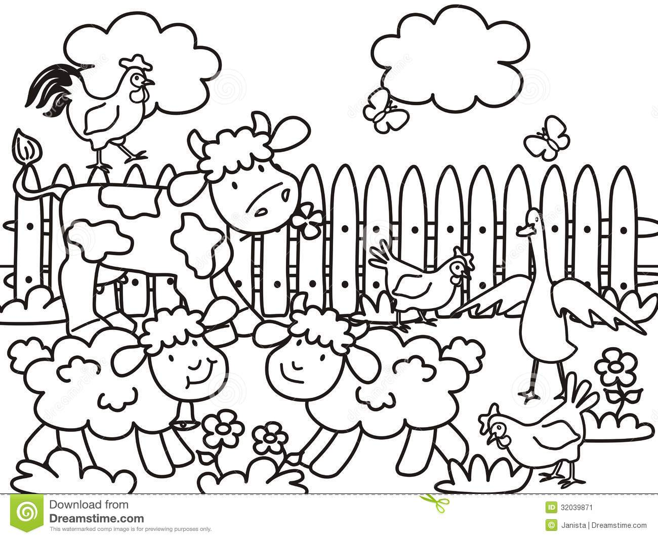 Farm Animals coloring #7, Download drawings