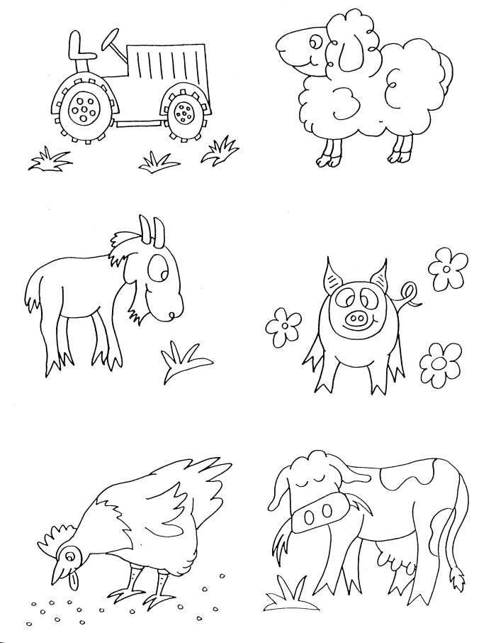 Farm Animals coloring #5, Download drawings