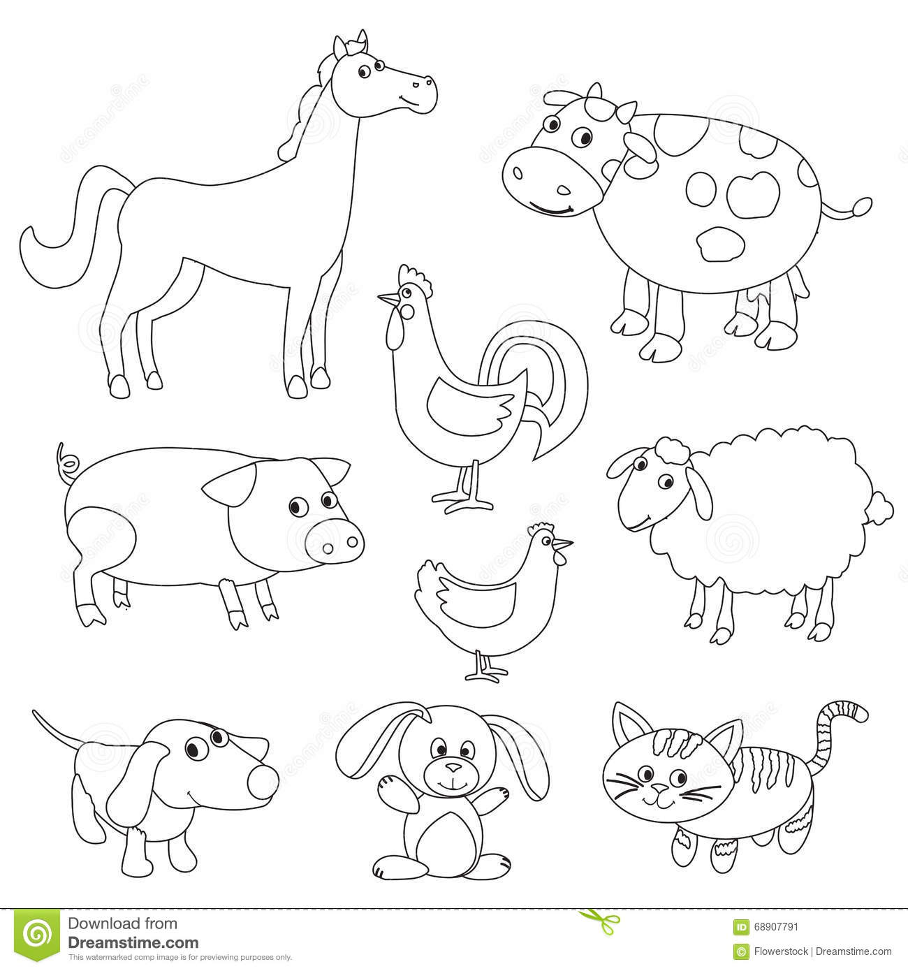 Farm Animals coloring #6, Download drawings