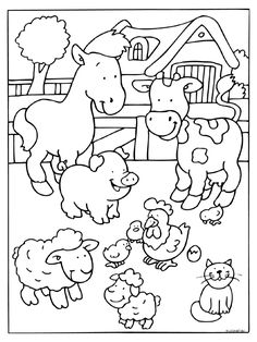 Farm Animals coloring #9, Download drawings