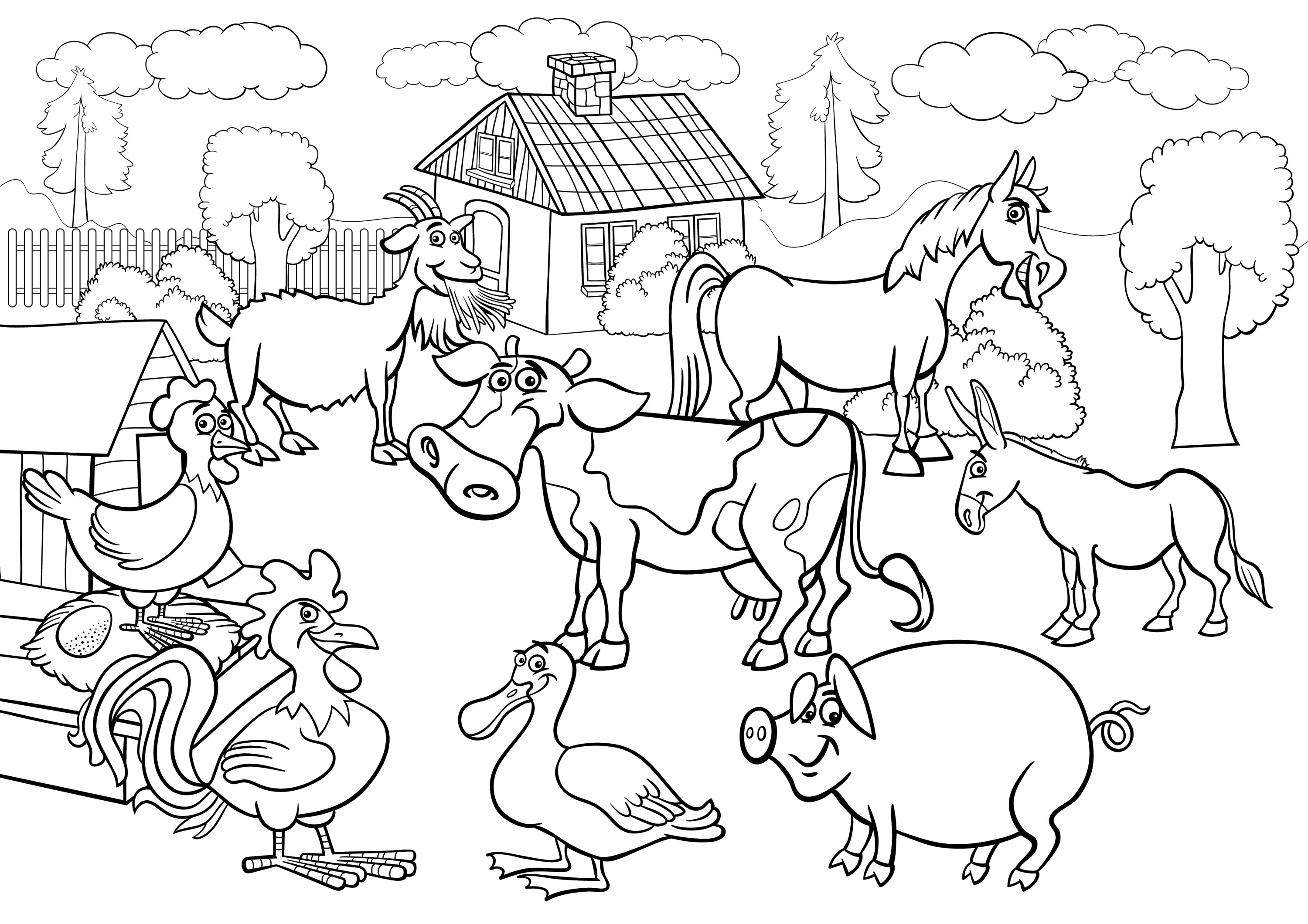 Farm Animals coloring #12, Download drawings