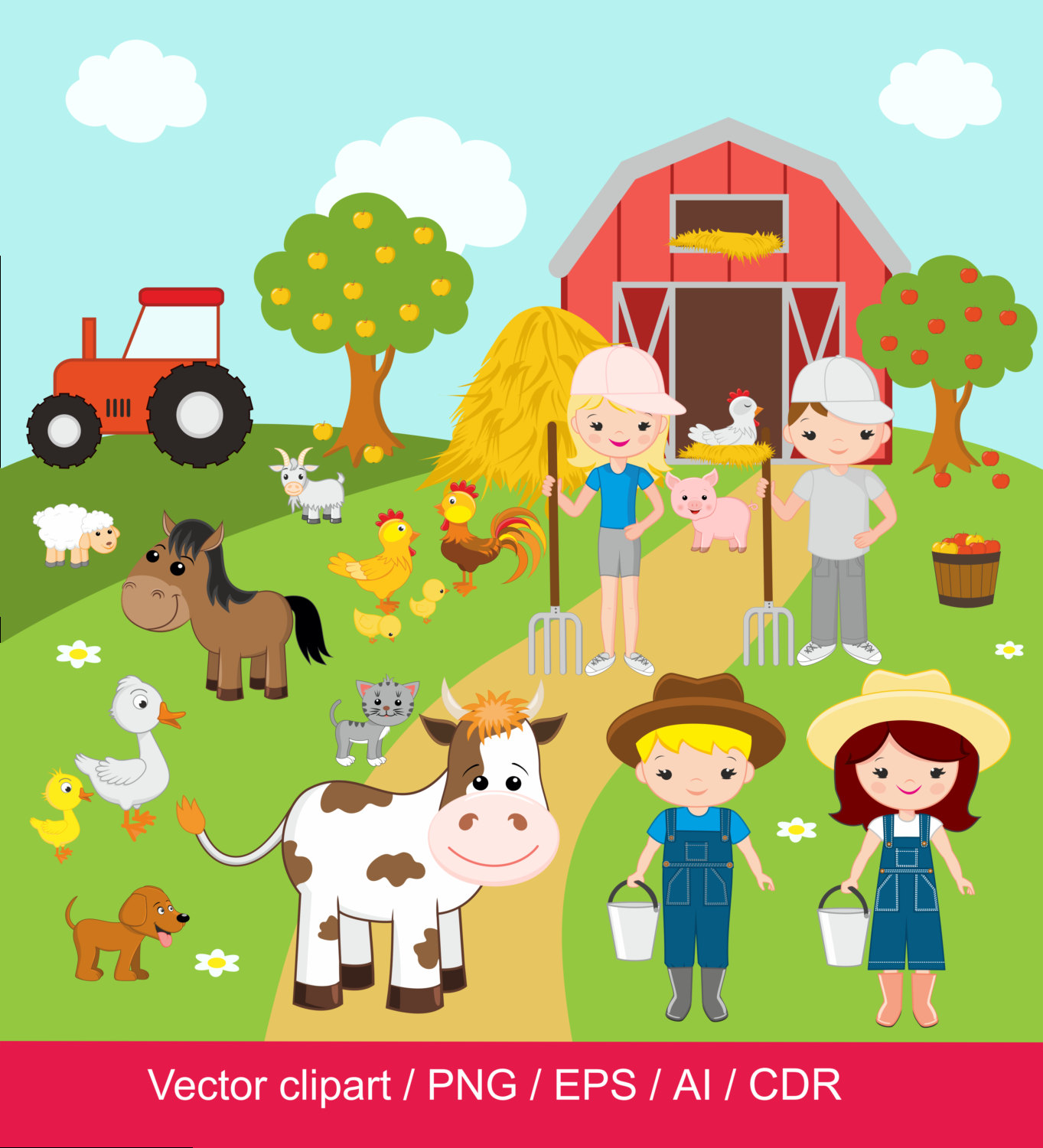 Farm clipart #3, Download drawings