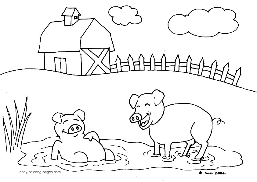 Farms coloring #4, Download drawings