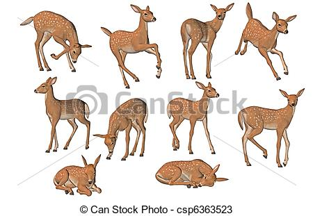 Fawn clipart #2, Download drawings