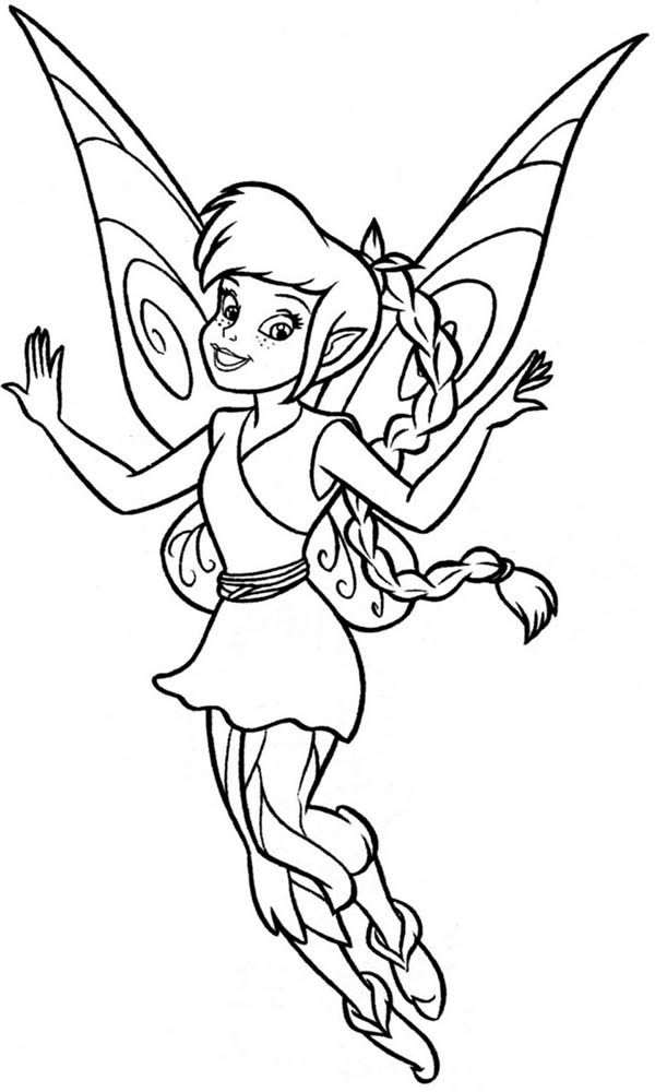 tinkerbell fawn sabrina coloring pages - photo#3