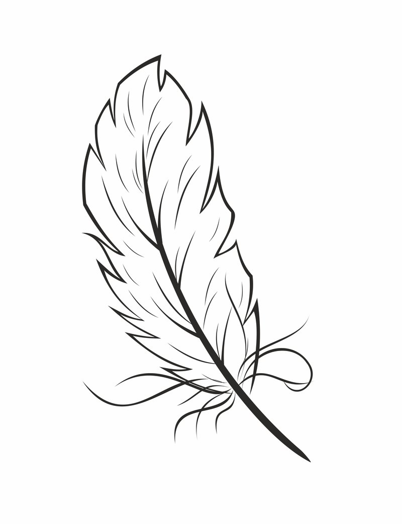 Feather coloring #20, Download drawings