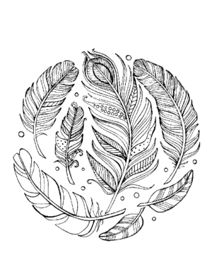 Feather coloring #4, Download drawings