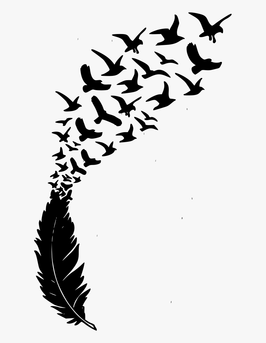 feather with birds svg #203, Download drawings