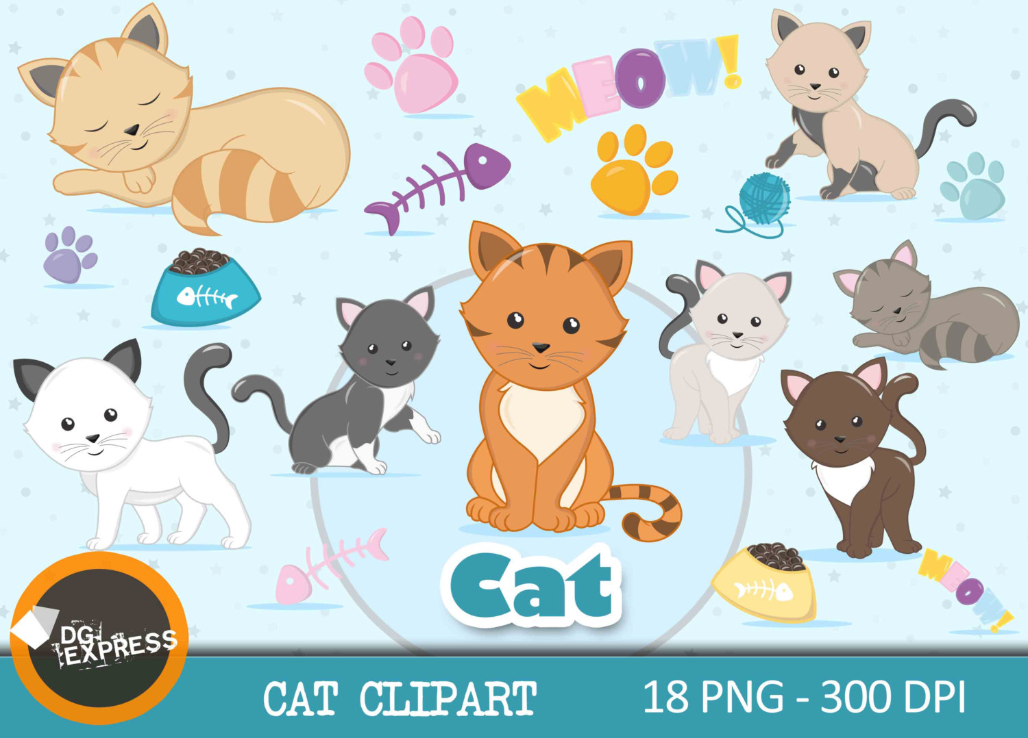 Feline clipart #11, Download drawings