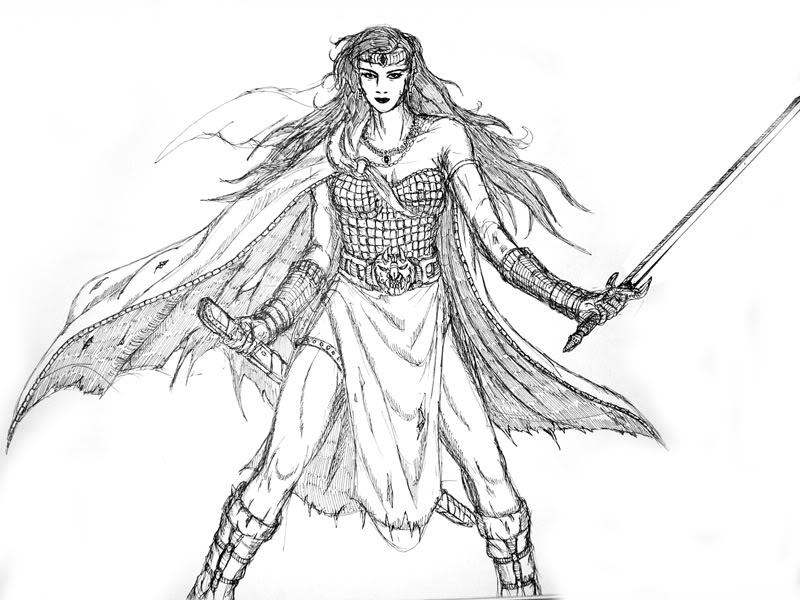 Female Warrior coloring #8, Download drawings