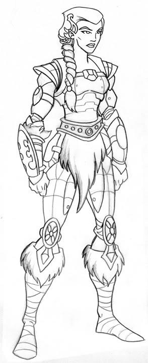 Female Warrior Coloring 13 Download Drawings