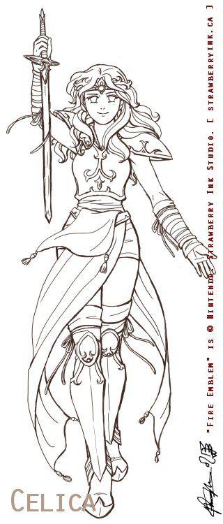 Female Warrior coloring #14, Download drawings