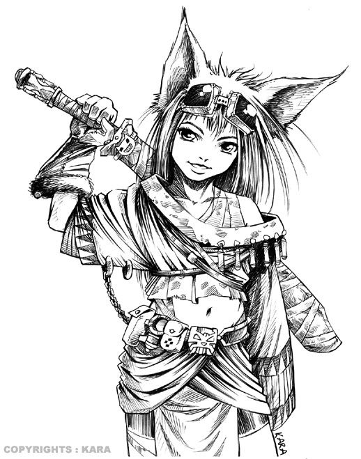 Female Warrior coloring Download Female Warrior coloring