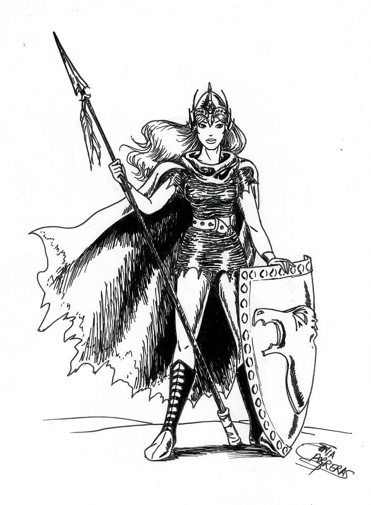 Female Warrior coloring #12, Download drawings