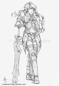Female Warrior coloring #18, Download drawings