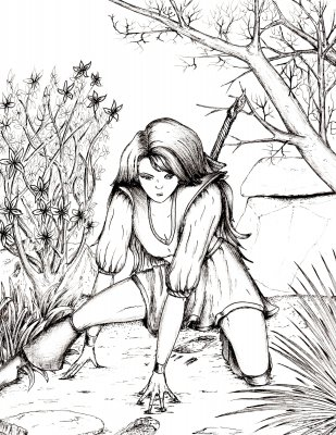 Female Warrior coloring #20, Download drawings