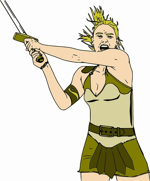 Female Warrior svg #19, Download drawings