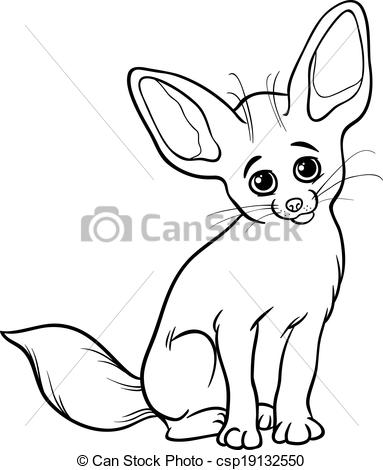 Fennec Fox coloring #13, Download drawings