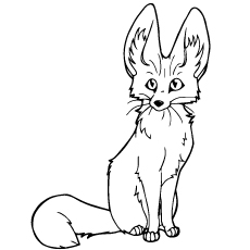 Fennec Fox coloring #20, Download drawings