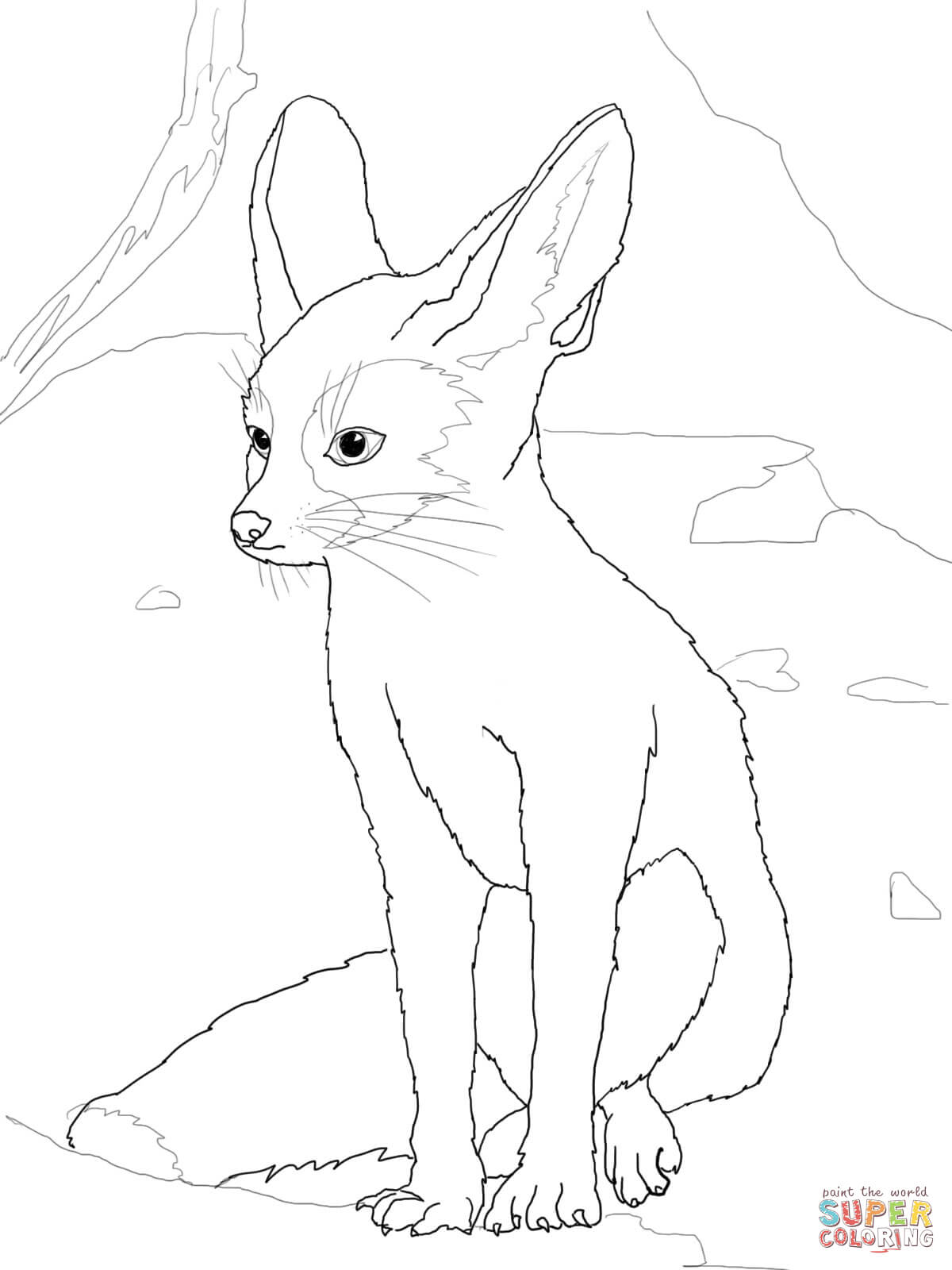 Fennec Fox coloring #6, Download drawings