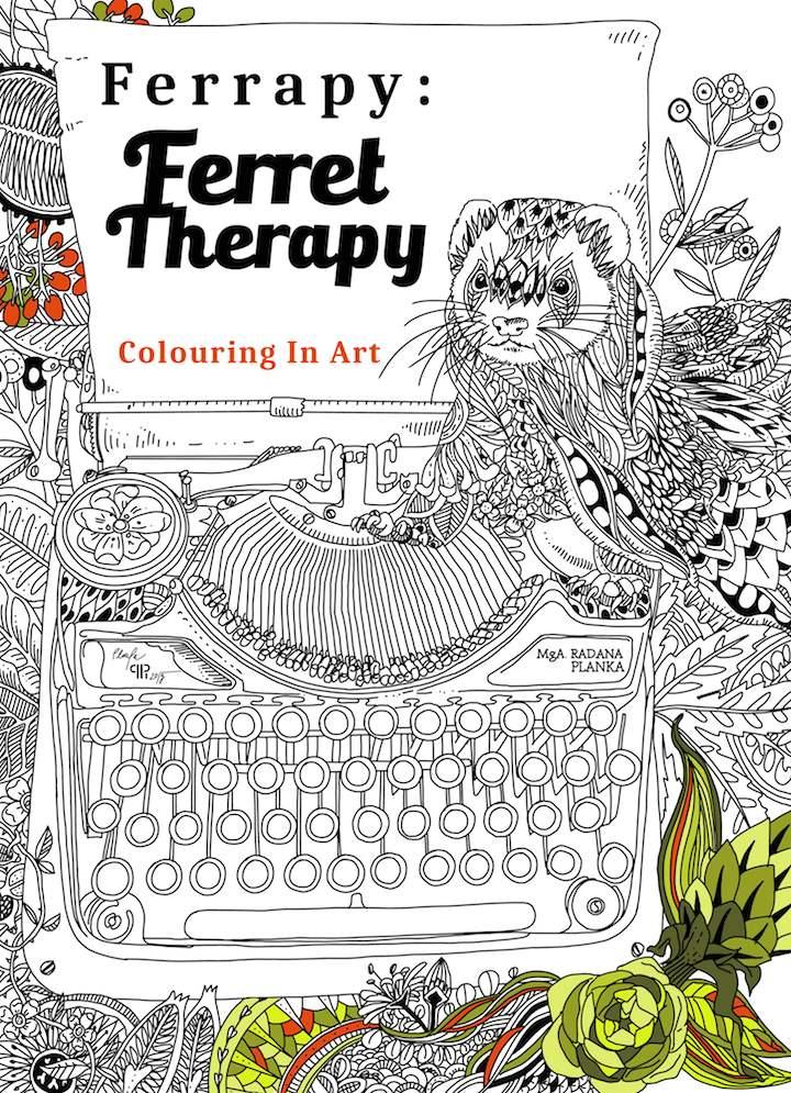 Ferret coloring #6, Download drawings