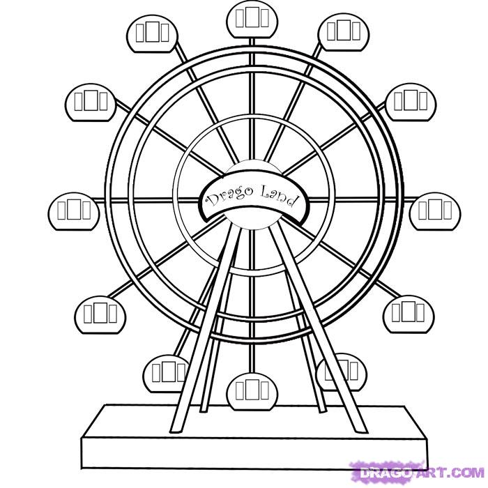 Ferris Wheel coloring #14, Download drawings