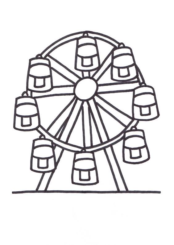 Ferris Wheel coloring #3, Download drawings