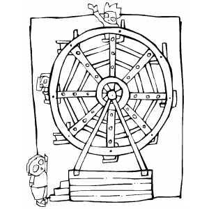 Ferris Wheel coloring #8, Download drawings