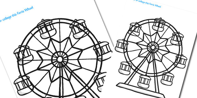 Ferris Wheel coloring #17, Download drawings