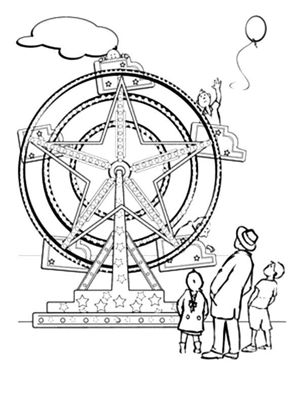 Ferris Wheel coloring #15, Download drawings