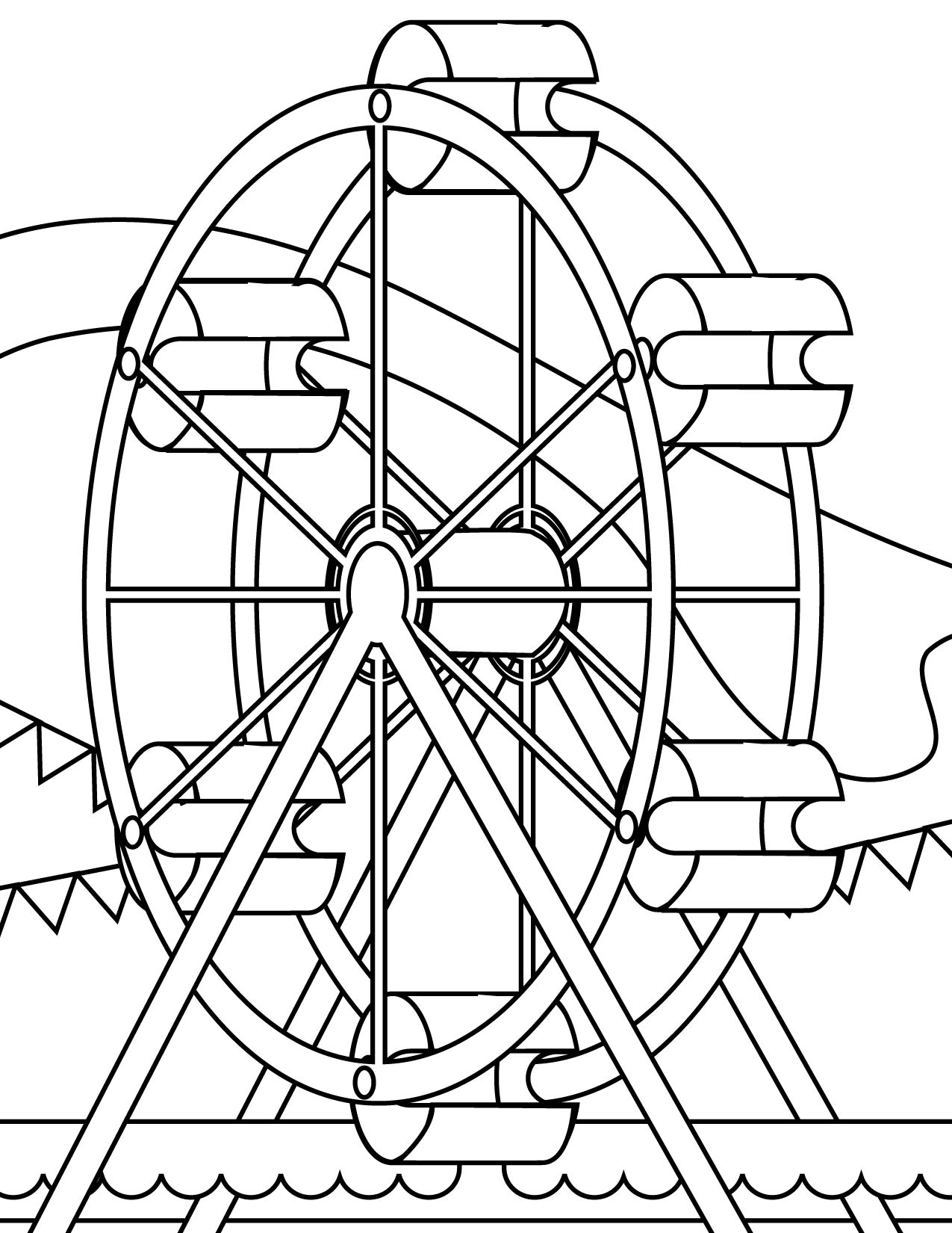 Ferris Wheel coloring #2, Download drawings