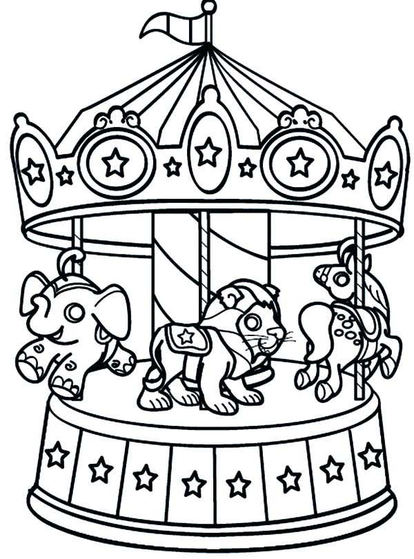 Ferris Wheel coloring #20, Download drawings