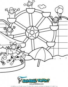 Ferris Wheel coloring #11, Download drawings