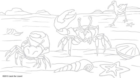 Fiddler Crab coloring #1, Download drawings