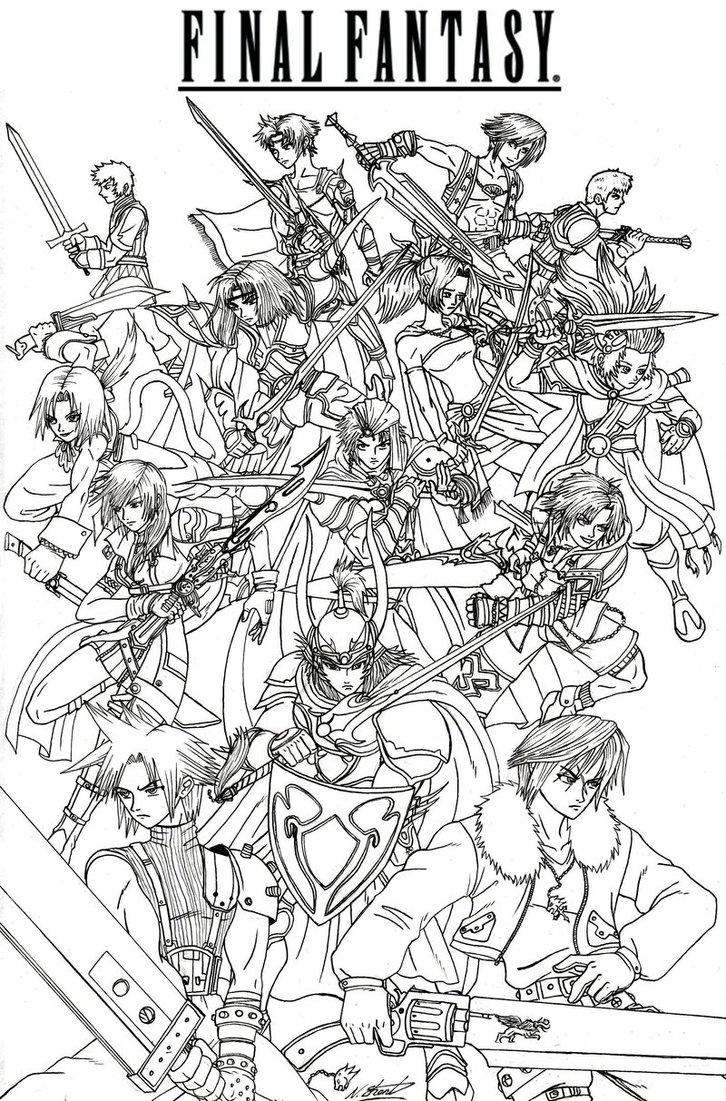 Final Fantasy coloring #1, Download drawings