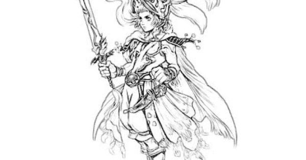 Final Fantasy coloring #10, Download drawings