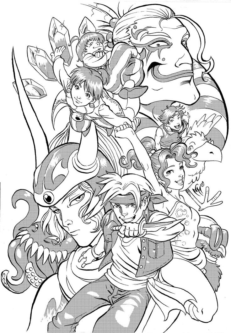 Final Fantasy coloring #9, Download drawings