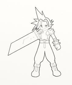 Final Fantasy coloring #8, Download drawings