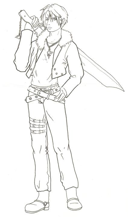 Final Fantasy coloring #3, Download drawings