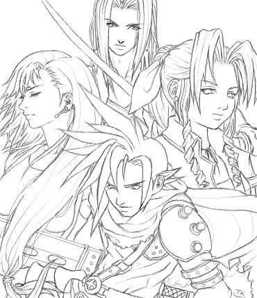 Final Fantasy coloring #2, Download drawings