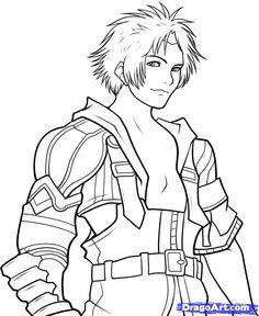 Final Fantasy coloring #13, Download drawings