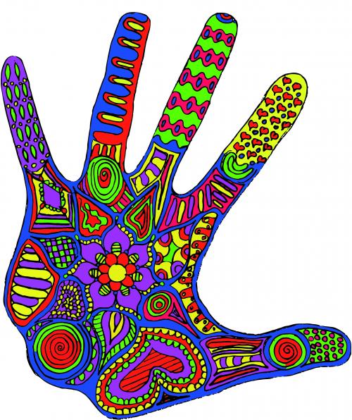 Fingerprint coloring #7, Download drawings
