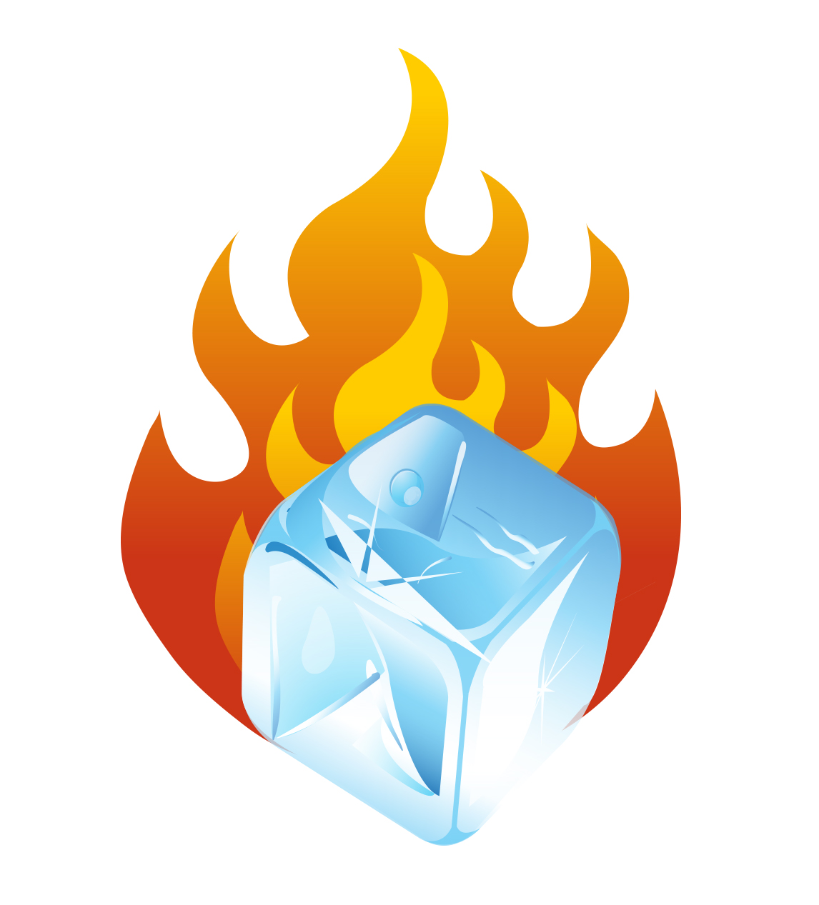 Fire And Ice clipart #1, Download drawings
