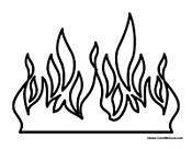 Flames coloring #6, Download drawings
