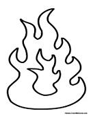 Flames coloring #1, Download drawings