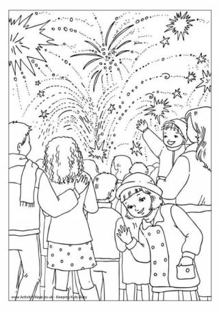Fireworks coloring #2, Download drawings