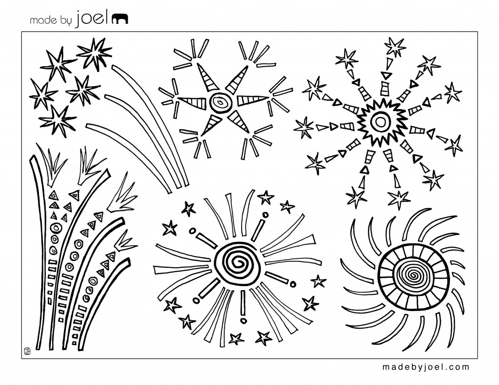 Fireworks coloring #13, Download drawings