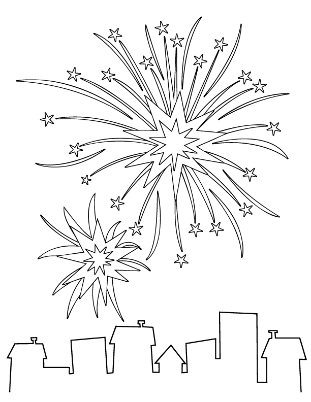 Fireworks coloring #16, Download drawings